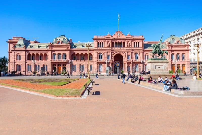 La住处Rosada,布宜诺斯艾利斯 免版税库存图片