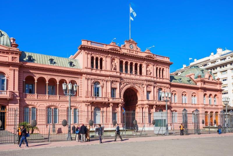 La住处Rosada,布宜诺斯艾利斯 免版税图库摄影