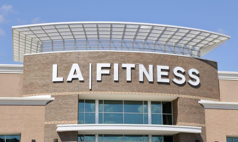LA健身健身房标志,孟菲斯TN 图库摄影
