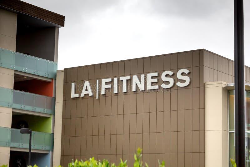 LA健身标志 免版税库存图片