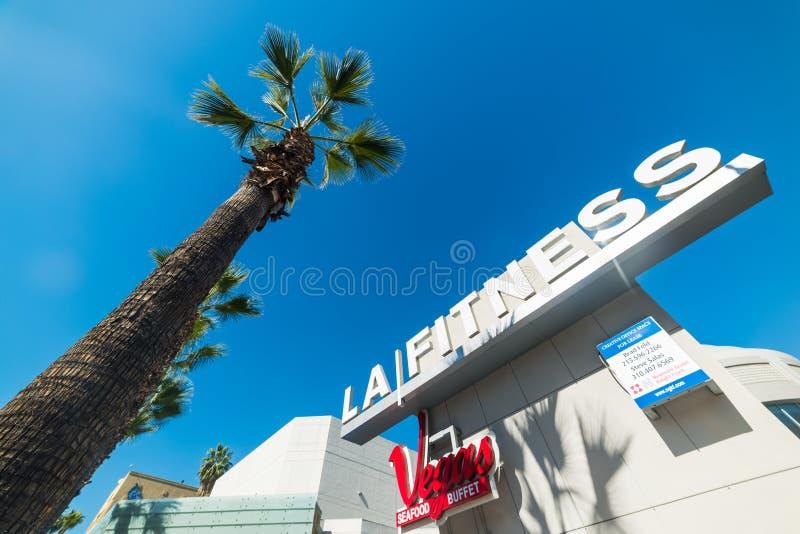 LA健身签到好莱坞大道 图库摄影