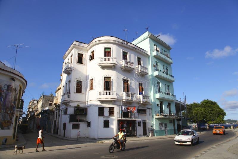 从La哈瓦那的老大厦 免版税库存照片