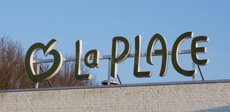 La地方餐馆商标 库存照片