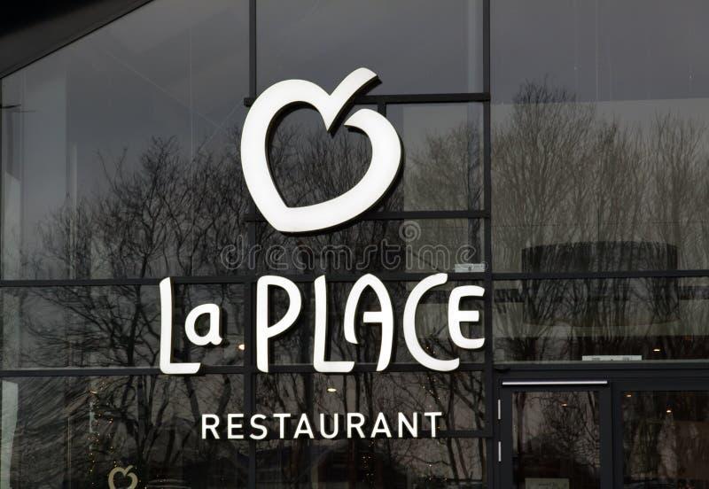 La地方餐馆v和D 库存图片