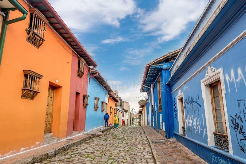 La坎德拉里亚角波哥大,哥伦比亚 免版税图库摄影