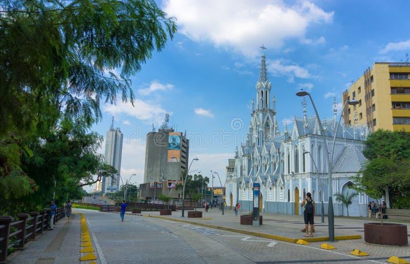 La埃尔米塔教会在卡利,哥伦比亚 免版税库存照片