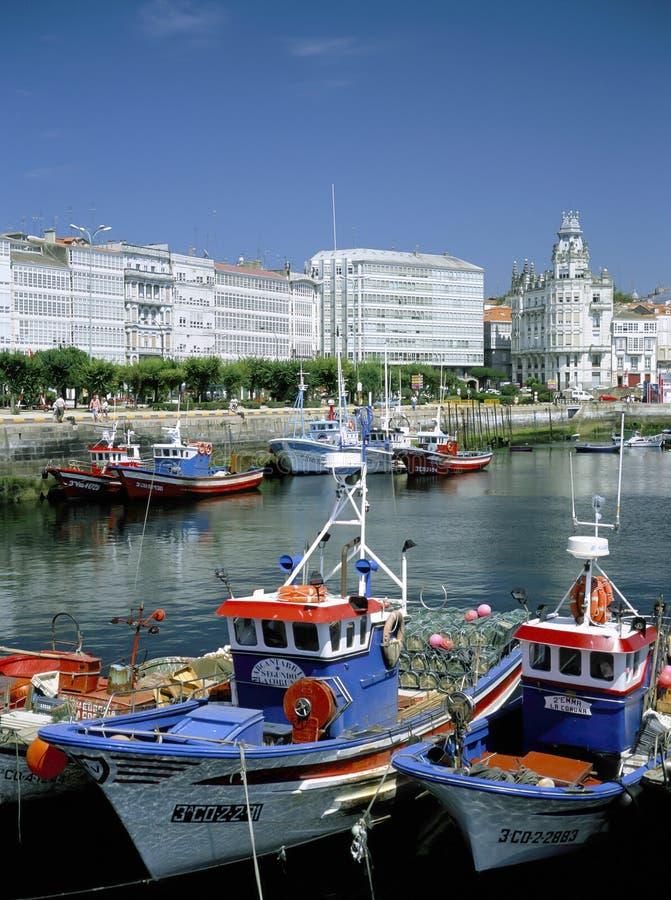 La拉科鲁尼亚队 加利西亚,北西班牙 免版税库存图片