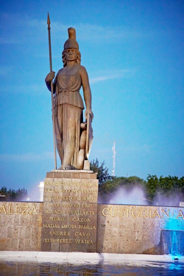 La智慧女神在瓜达拉哈拉 库存照片