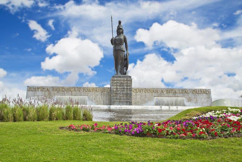 La智慧女神纪念碑在瓜达拉哈拉 库存照片