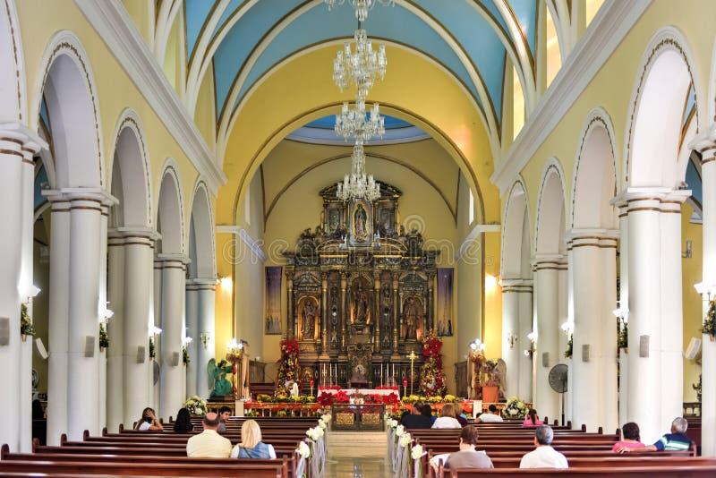 La瓜达卢佩河大教堂- Ponce,波多黎各 图库摄影