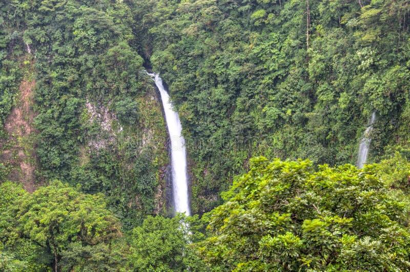 La福尔图纳瀑布在阿雷纳尔国家公园,哥斯达黎加 免版税库存照片