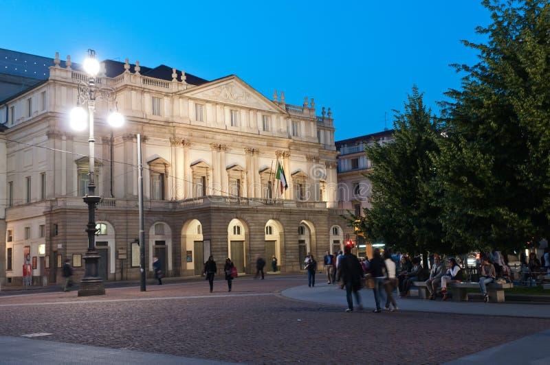 la米兰scala剧院 库存图片