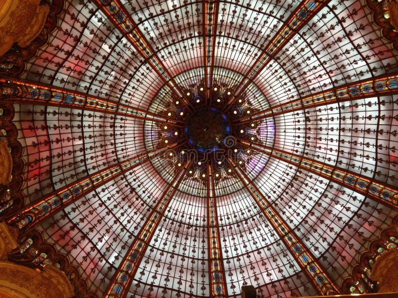 La费耶特画廊的多彩多姿的圆顶在巴黎 库存照片