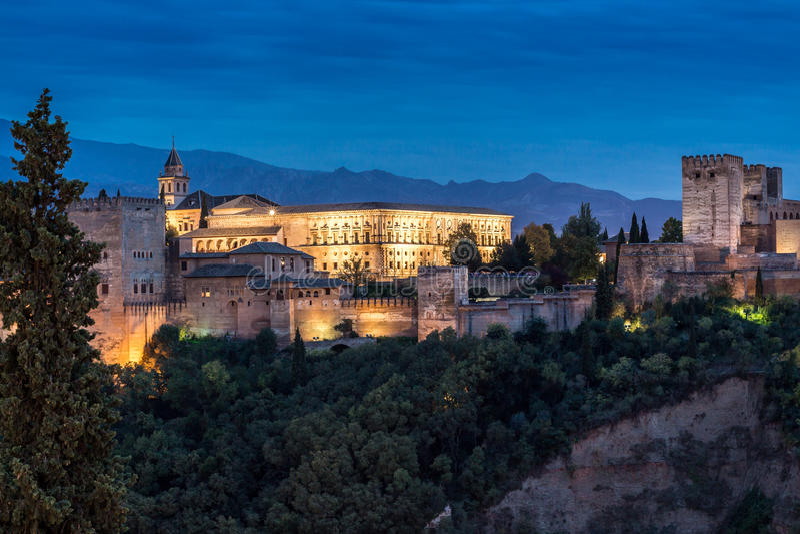 La阿尔罕布拉宫,格拉纳达, España 免版税库存图片
