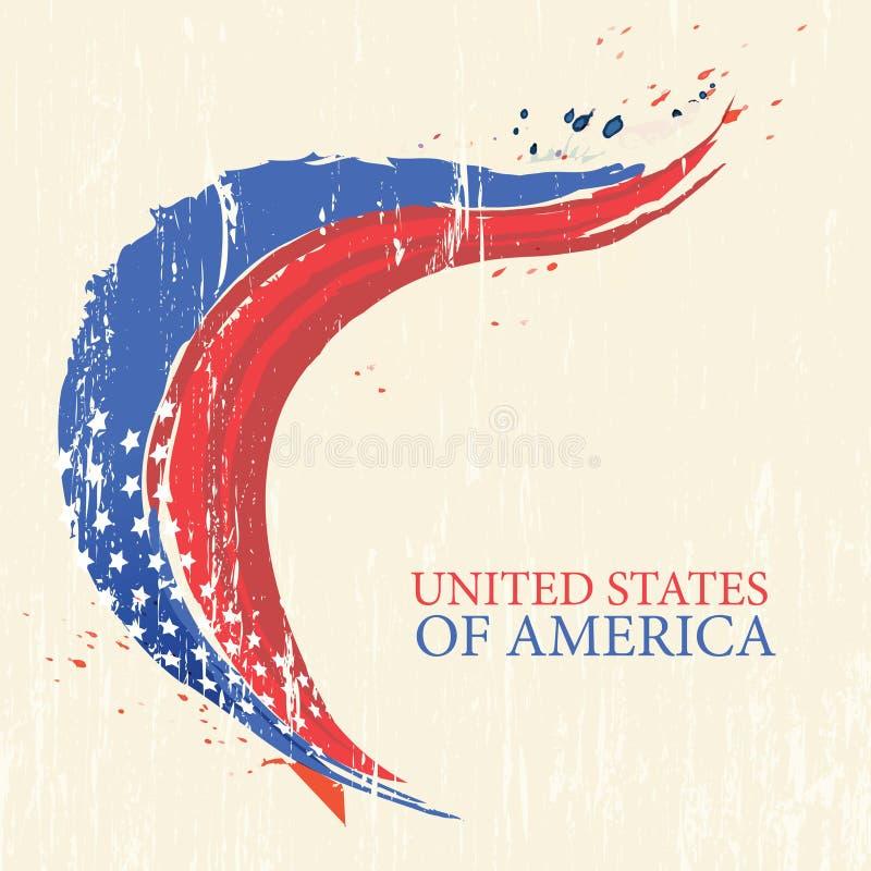 la 4ème indépendance américaine juillet de jour illustration de vecteur
