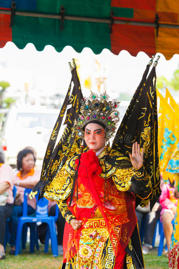 La ópera china hermosa imagen de archivo