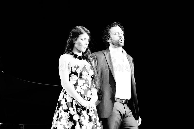 La ópera de Metroplitan en el parque 3 de Crotona imagen de archivo libre de regalías