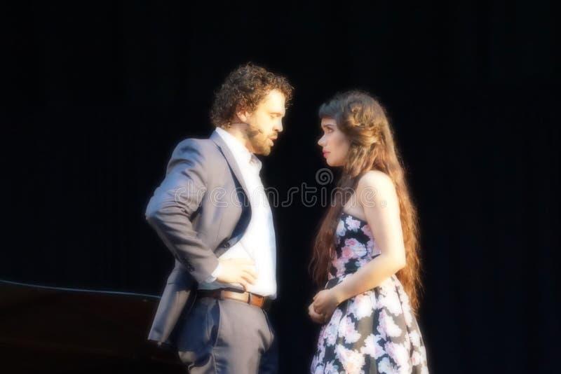 La ópera de Metroplitan en el parque 7 de Crotona foto de archivo