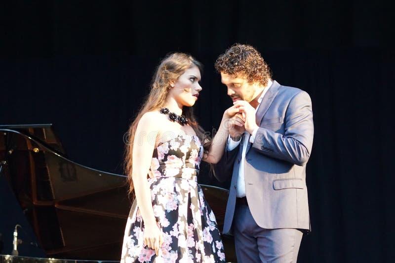 La ópera de Metroplitan en el parque 12 de Crotona imagen de archivo libre de regalías
