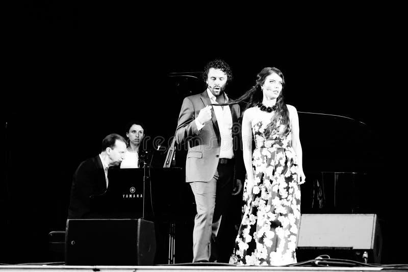 La ópera de Metroplitan en el parque 19 de Crotona fotografía de archivo libre de regalías