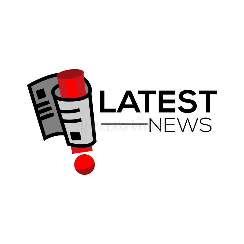 La última etiqueta del periódico de las noticias, diseño plano Vector libre illustration