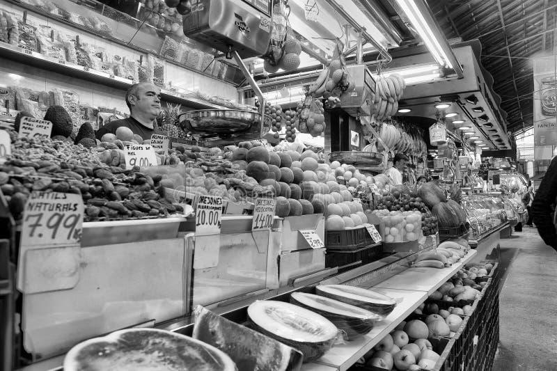 la плодоовощей boqueria barcelona стоковое изображение