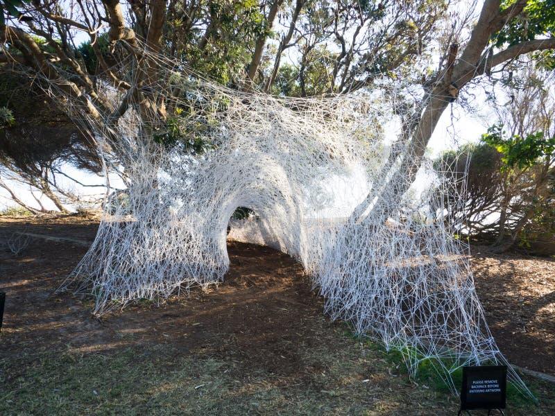 La 'guarida 'es ilustraciones esculturales de Britt Mikkelsen en la escultura por los acontecimientos anuales del mar libres al p imágenes de archivo libres de regalías
