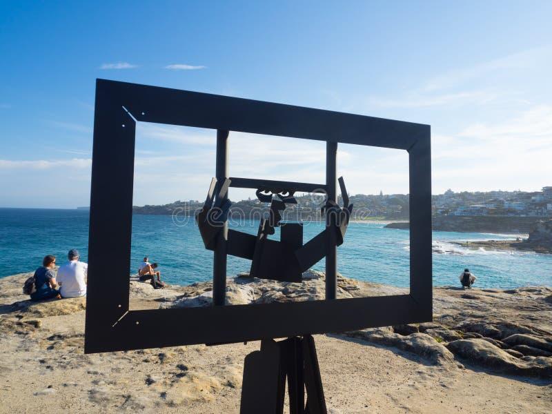 La 'libertad 'es ilustraciones esculturales de Michael Snape en la escultura por los acontecimientos anuales del mar libres al pú foto de archivo