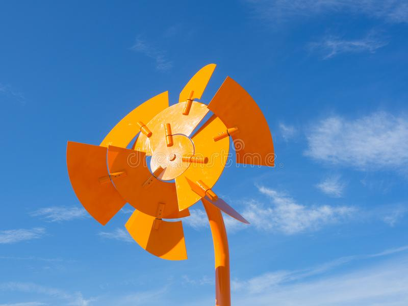 La 'paleta del disco 'es ilustraciones esculturales de Ivan Black en la escultura por los acontecimientos anuales del mar libres  foto de archivo libre de regalías