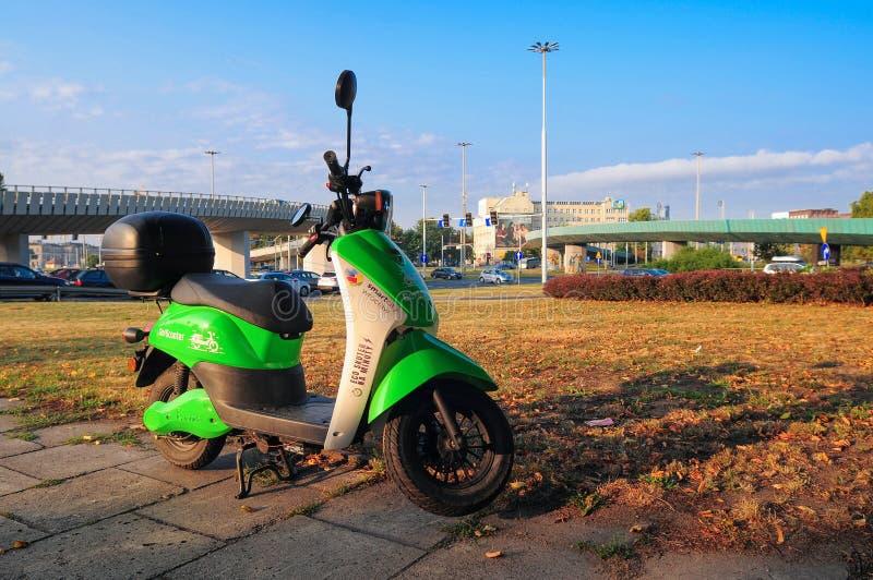 """la """"ville de blinkee """", réseau de location du premier scooter de Poland's, ouvre une branche dans le 'aw de WrocÅ photographie stock"""
