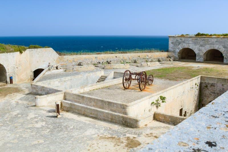 La翻车鱼堡垒在Menorca的伊莎贝尔II 库存照片