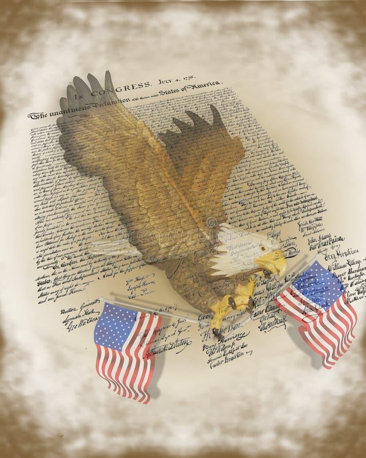 la 4ème indépendance juillet de déclaration de fond illustration stock