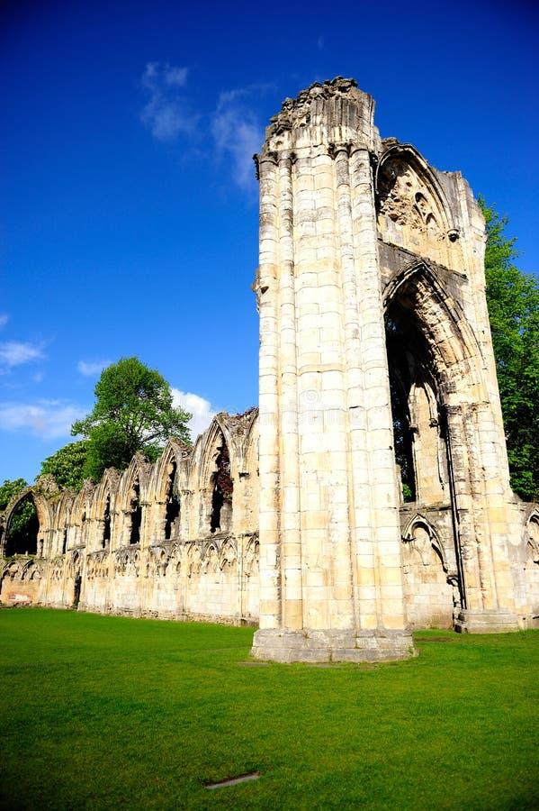 La abadía de St Mary en la ciudad de York, Inglaterra, Reino Unido imágenes de archivo libres de regalías