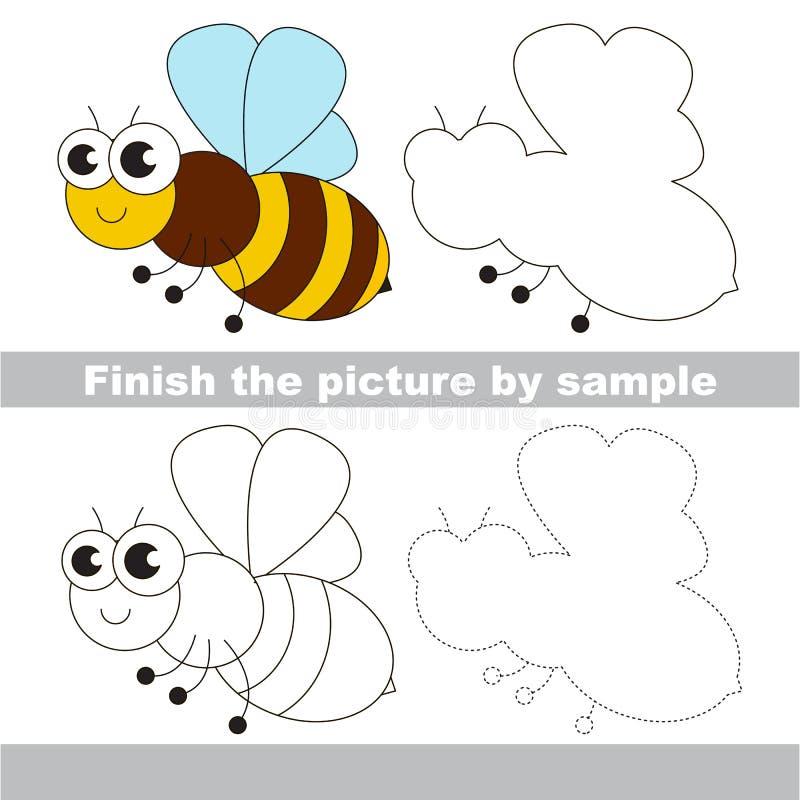 La abeja Hoja de trabajo del dibujo ilustración del vector