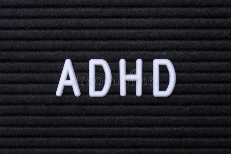 La abreviatura ADHD fotografía de archivo
