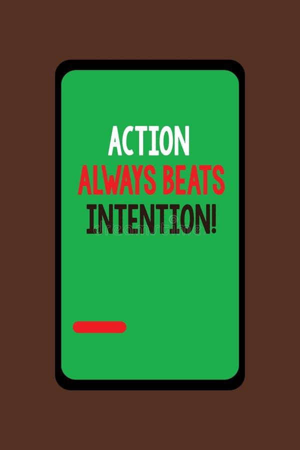 La acción del texto de la escritura bate siempre la intención El significado del concepto materializado hace que sucede acto en é libre illustration