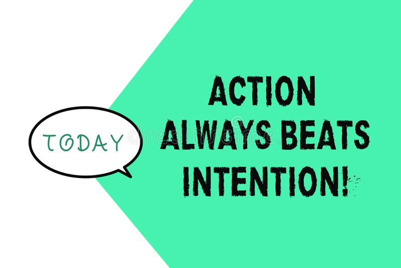 La acción del texto de la escritura de la palabra bate siempre la intención El concepto del negocio para Materialized hace que su stock de ilustración