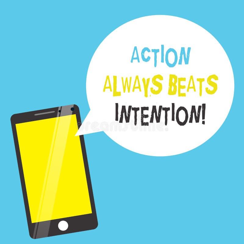 La acción del texto de la escritura de la palabra bate siempre la intención El concepto del negocio para Materialized hace que su libre illustration