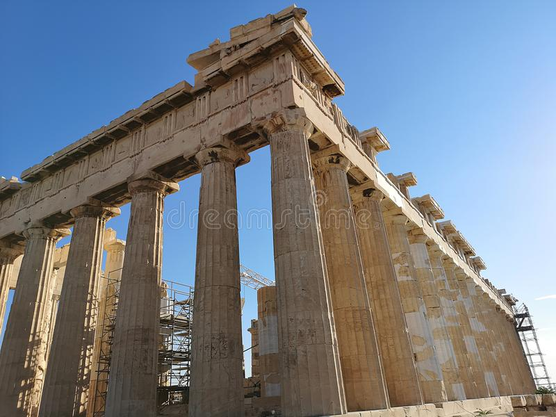 La acrópolis de Atenas, Grecia imagen de archivo