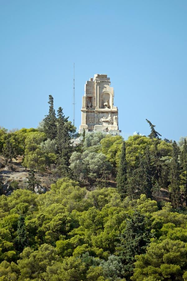 La acrópolis de Atenas, Grecia fotografía de archivo