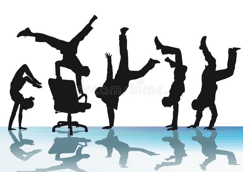 La acrobacia de la oficina stock de ilustración