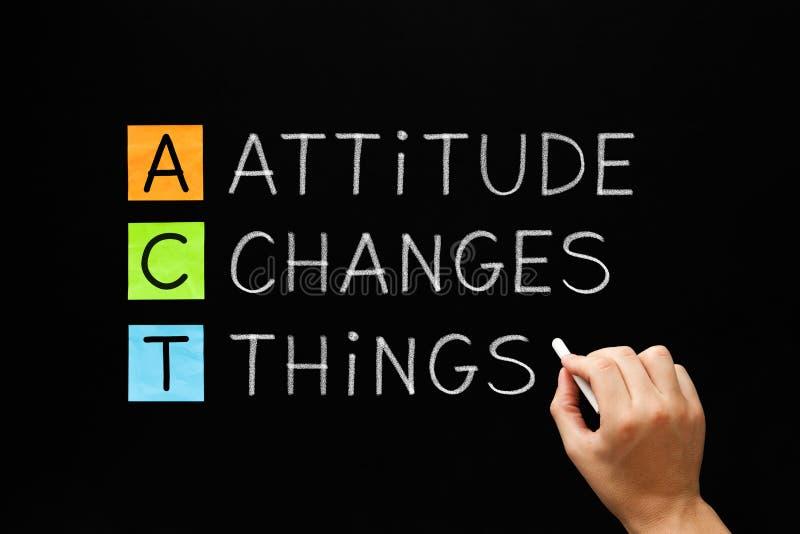 La actitud cambia cosas imagen de archivo