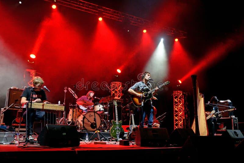 La actuación en directo de Barr Brothers (banda) en el festival de Bime foto de archivo