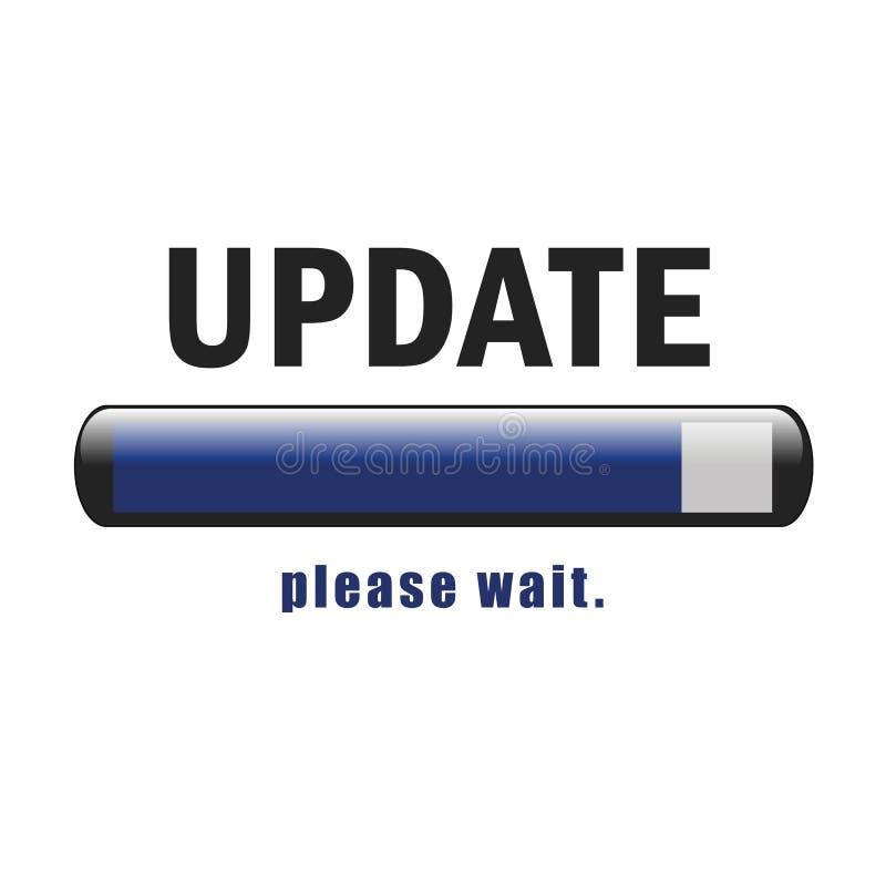 La actualización que pone al día software espera por favor libre illustration