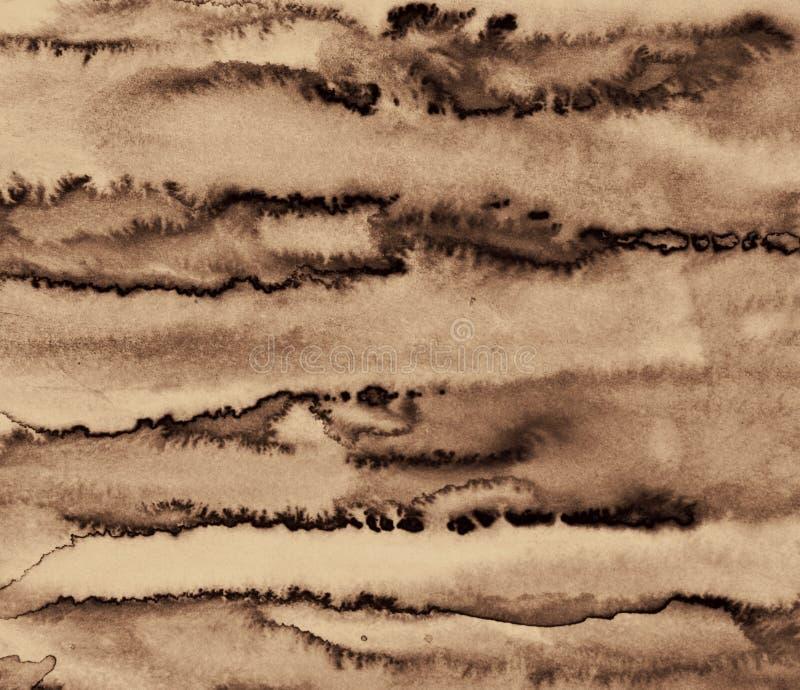 La acuarela abstracta en la textura de papel puede utilizar como fondo En S imágenes de archivo libres de regalías