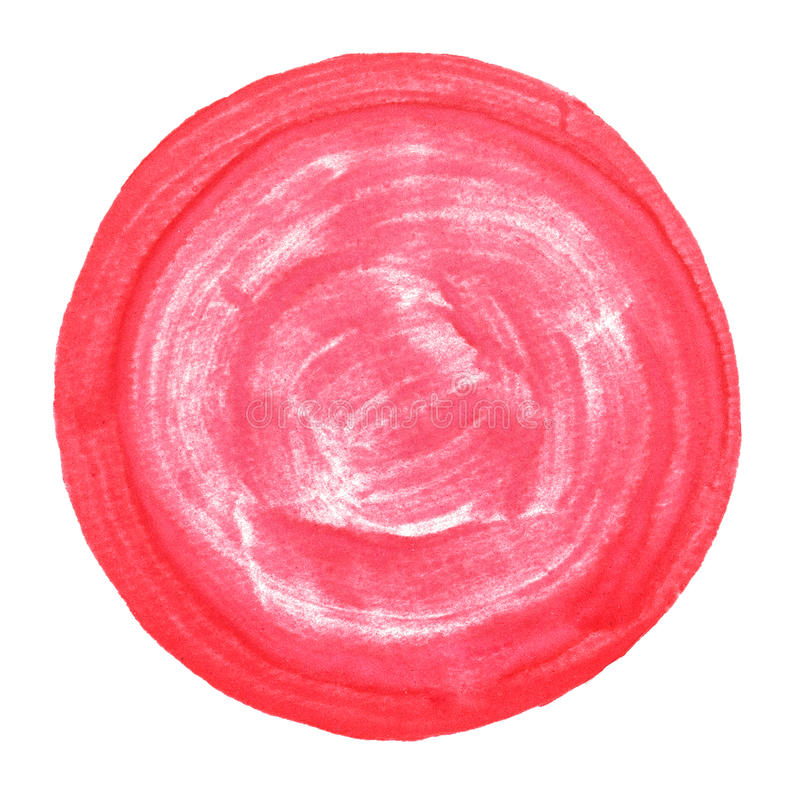 La acuarela abstracta pintó alrededor de punto con la trayectoria de recortes libre illustration