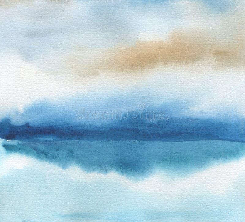 La acuarela abstracta pintó el fondo Texture el papel
