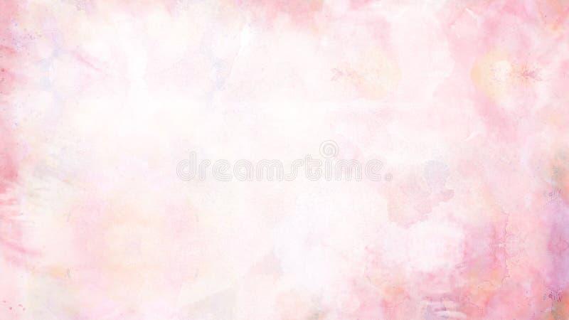 La acuarela colorida suave del extracto pintó el fondo fotografía de archivo