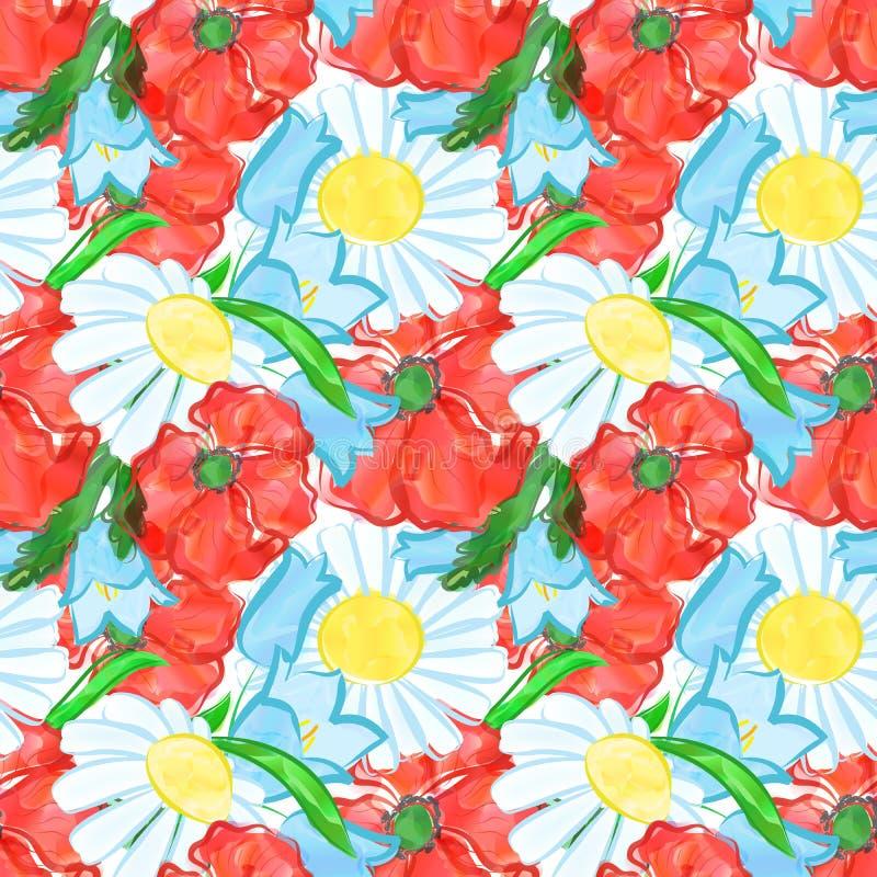 La acuarela florece el fondo ilustración del vector