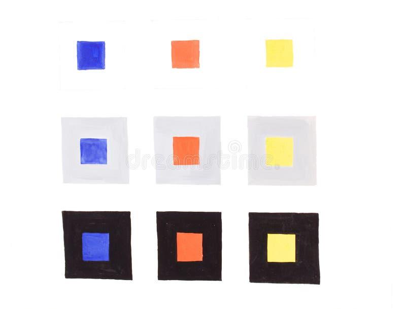 La acuarela pinta coloristics imagen de archivo libre de regalías
